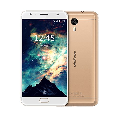 Ulefone Power 2 Smartphone ohne Vertrag (5.85u0022 18:9 FHD Display, 4G Dual-SIM, 4GB RAM, 64GB Interner Speicher, Dual-Hinterkamera, 6050mAh großer Akku mit Schnellladung, Android 7.1) Gold