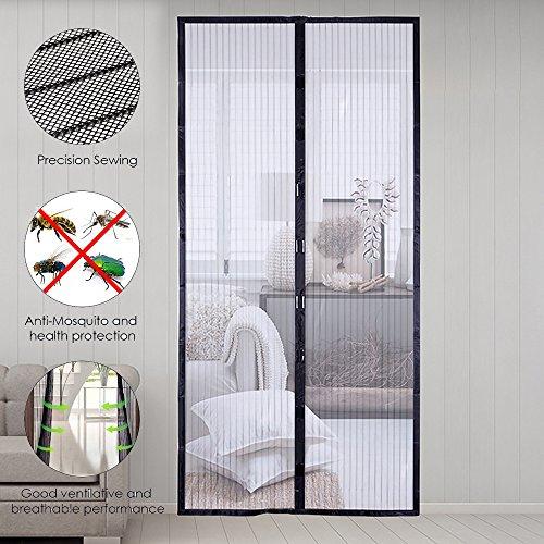Sinbide® Fliegengitter Tür Magnetverschluss Gestreift Türvorhang, 220*100cm