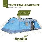 SKANDIKA Hurricane 12 - Tente de Camping familiale Tunnel - 12 Personnes -...