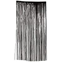 JCHPRODUCTS Halloween Black Shimmer Curtain Home Decoartion Birthdays Fancy Dress Party Accessory
