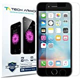 iPhone 6S Screen Protector, Tech Armor Apple iPhone 6 (4.7 inch ONLY) High Defintion (HD) Clear Screen Protectors - Maximum Clarity [3-Pack] Lifetime Warranty