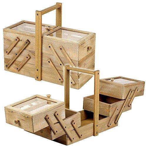 Große Viktorianisch Hölzernes Nähfaden Kiste Vintage Freischwinger Aufbewahrungskiste Mit Griff