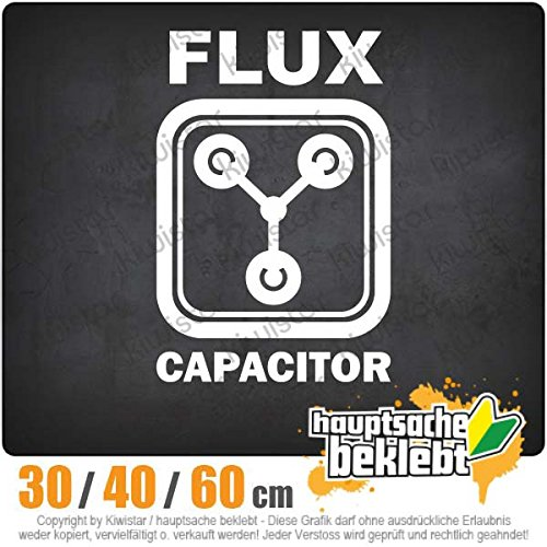 Flux Capacitor - in 3 Größen erhältlich Heckscheibenaufkleber Carsticker Decal