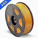 SUNLU 3D Printer Filament ABS, 1.75mm ABS 3D Printer Filament, 3D Printing Filament ABS for 3D Printer, 1kg, Gold