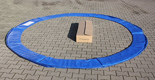 Premium Federabdeckung 396 – 400 cm 13 FT für Trampolin Randabdeckung Randschutz Abdeckung PVC zweiseitig – UV beständig blau - 3