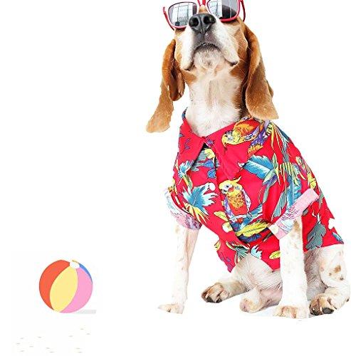 Puppy Dog Shirts, Kleine Hunde, Große Hunde T-Shirts, Kleidung, Bekleidung, hawaiianischen Stil, L, Multi Color ()