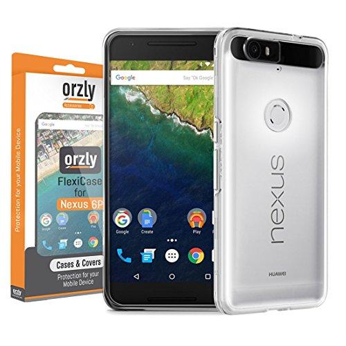 Orzly® - FlexiCase para HUAWEI NEXUS 6P SmartPhone (2015 Modelo Teléfono Móvil - 5,7 Pulgadas Versión) - Funda Protectora de Gel Flexible - 100% TRANSPARENT
