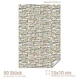 Graz Design 767080_15x10_70 Fliesenaufkleber Stein - Mauer - Optik | mit Fliesenbildern die Fliesen-Wände überkleben (Fliesenmaß: 15x10cm (BxH)//Bild: 70x105cm (BxH))