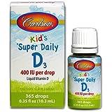 Carlson Flacon de vitamine D3 400 IU liquide 10 ml