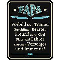 Original RAHMENLOS Targa in metallo Papa è: