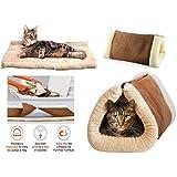 Nueva 2en 1Kitty Shack Self Calefacción Pet Túnel Alfombrilla de cama perro y gato con portátil caliente Cálido