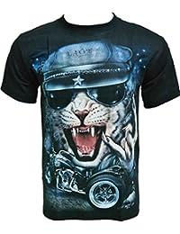 Rock Chang T-Shirt * Cool Cat * Glow In The Dark * Noir GR393