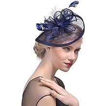 StageOnline Donne Cappelli Cerimonia Piuma Fiore Partito Matrimonio  Decorazione Cappello per Partito Matrimonio 4310efb5ea07