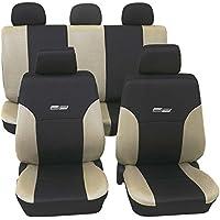 VW POLO  Maß Schonbezüge Sitzbezug Sitzbezüge 1+1  D102 Rot Schwarz