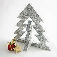 Albero natalizio decorativo componibile in Pietra naturale di Luserna ideale come centrotavola o come idea regalo