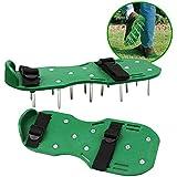 Chaussures d'aération de gazon Sandales de jardin avec boucles en nylon et 2 sangles pour l'aération de votre pelouse ou de votre jardin