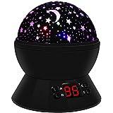 Lámpara Infantil, 360 Rotando Romántica Lámpara de Noche con 4 LED, Starry Sky Lámpara Proyector ( 8 Modo de Luz, Control de Temporizador, USB y con Pilas ), Gran Regalo para Niños, Adultos