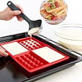 Vmoni Silicone Waffle Mould Tray for Cake Cookie Muffin Chocolate Bakeware and Baking Tool