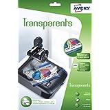 Avery 15 Transparents pour rétroprojecteur - A4 - Impression Jet d'Encre (2503)