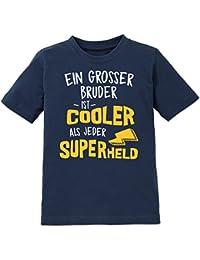 Ein grosser Bruder ist cooler als jeder Superheld Kinder T-Shirt by Shirtcity