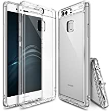 Goseper Case Clear Transparent Tough PC Back TPU Bumper Raised Bezels Protective Cover For Huawei Mate s