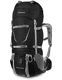 TOMSHOO 70+5L Mochila Senderismo con Cubierta de Lluvia Impermeable Bolsa de Trekking para Escalada