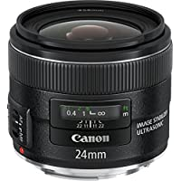 Canon EF 24mm f/2.8 IS USM - Objetivo para Canon (distancia focal fija 24mm, apertura f/2.8-22, estabilizador, diámetro: 58mm) negro