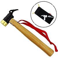 Topker Outdoor Camp Mallet Hammer mit Tasche Erdnägel dem Spiel Nail Abzieher Entferner Werkzeug
