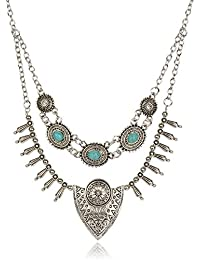 Shining Diva Fashion Jewellery Oxidised Silver Party Wear Necklace For Women Stylish Necklace For Girls