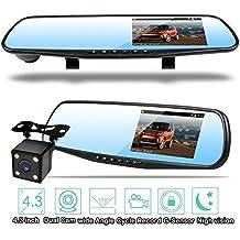 Homelink IPS LCD 1080P Video sensore di parcheggio retrovisore di retrovisione sistemi auto Backup Inversione Rilevatore di veicoli Monitor con fotocamera impermeabile d'inversione di sost