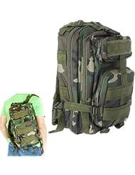 Gleader Mochila Deportivo Exterior Militar 30L para Campamento Excursionismo - Camuflaje de Selva