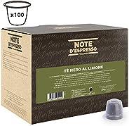 Note d'Espresso Black lemon tea Capsules 2g x 100 Capsules Exclusively Compatible with Nespresso* machines