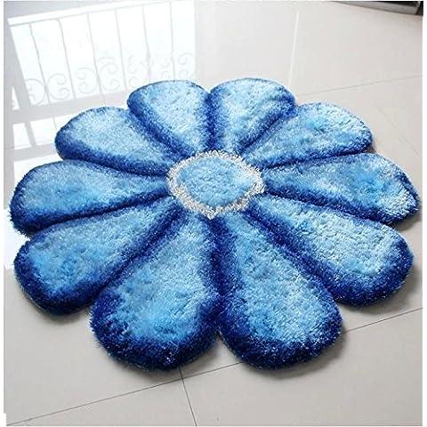 New day-Corea seta sole tappeto tappeto stuoia Zerbini , blue filaments , 100*100cm