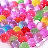 lumanuby 1000pcs absorbente bolas perlas agua cristal Gel perlas de agua gelatina agua Pearl jarrón para boda flores jardinería jarrón parte cristal decoración, colores mezclados 10unidades