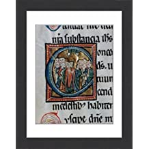 Framed 16x12 Print of Missal Vetus Oxemense. The Ascension of Jesus. 12th-13th cen (14334590)