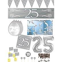 silber 5 Stk Deko Spiralen Silberhochzeit 61 cm Hängedeko Party Dekoration