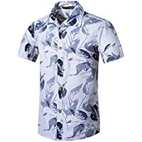 ❤️Camisa Hombre, Heligen Camiseta Ocasional Playa de impresión Hombres Loose Sleeve Daily Shirts Blusa