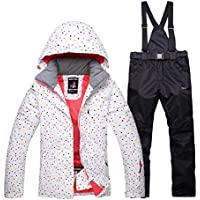 8ba17dd00ea75c ishine Schneeanzug Damen Skianzug 2tlg Skijacke mit Kapuze+Skihose  Regenjacke Outdoorjacke Damen Hardshell Jacke Wasserdicht