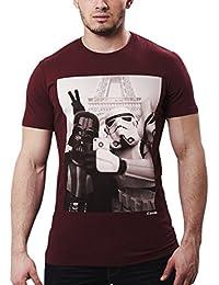 Star Wars Empire Selfie T-Shirt mit Darth Vader und Stormtrooper chunk Markenware weinrot