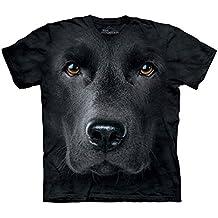 The Mountain Unisex Kinder Black Lab Face Hund T Shirt