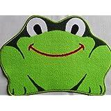 Kingken antidérapant en forme de grenouille de salle de bain Paillasson Tapis de sol pour Résidence universitaire (Vert)