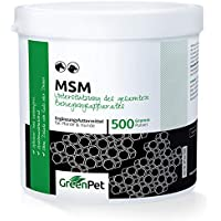 GreenPet MSM Pulver 500 g für Hunde und Pferde, Schwefel-Methylsulfonylmethan zur Unterstützung der Gelenke