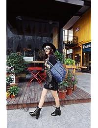 &ZHOU Botas otoño y del invierno botas cortas mujeres adultas 'Martin botas botas Knight A3-4 , black , 36