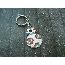 llavero star wars - droid BB8 / BB-8 Pixel/art • Hama Beads • Perler beads • Pixel Art • Hama midi / mini