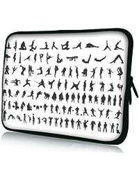 Luxburg® design housse sacoche pochette pour ordinateur portable 12,1 pouces, motif: Femme avec capuche
