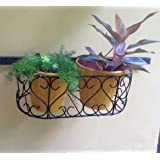 The Garden Store Balcony Grill Holder With Pot