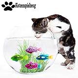 Legendog Giocattolo del Pesce del Gatto 4PCS, Giocattolo interattivo del Gatto del Pesce di Nuoto attivato Creativo dell'animale Domestico del LED