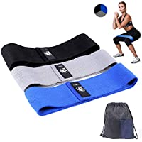 CFX Resistance Bands 3 Sets, Premium Exercise Loops with Non-Slip Design for Hips & Glutes, 3 Resistance Level Workout Booty Bands for Women and Men, Best for Home Fitness, Yoga, Pilates