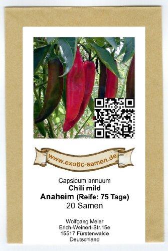 Mittelscharfes Chili - Peperoni - Anaheim TR - 20 Samen