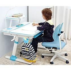 Study Right 1 mètre,la hauteur réglable Table d'étude pour les enfants, jeunesse et adultes,Tilt-capable de bureau,tiroir coulissant, conviennent à l'âge de 6+. Modèle: E501(bureau + étagère)